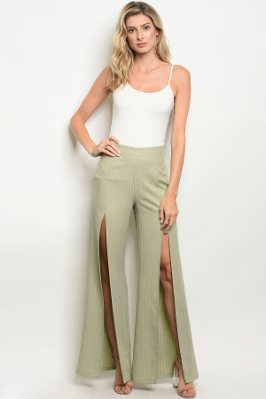 S10-11-1-P7022 SAGE IVORY STRIPES PANTS 3-2-1