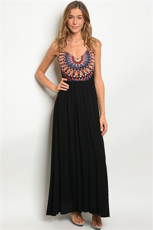 SA3-5-3-D15396 BLACK MULTI DRESS 2-3-2
