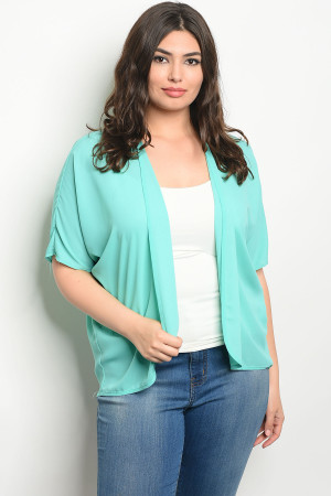 C23-B-3-C10526X MINT PLUS SIZE CARDIGAN 2-2-2