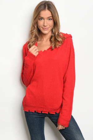 S9-13-1-NA-T75145 RED SWEATER 3-2-1