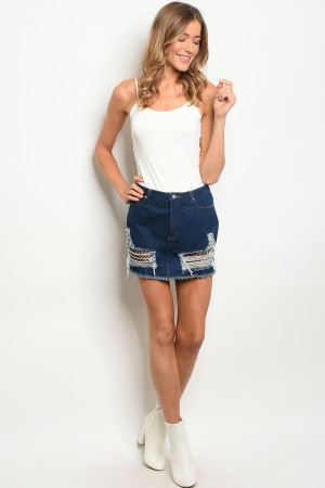 S16-10-6-NA-S73907 BLUE DENIM SKIRT 1-2-2-1