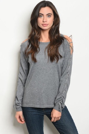 S17-10-5-NA-T73820 GRAY SWEATER 3-2-1