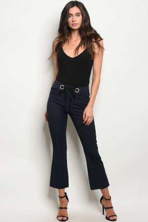 S4-2-4-P1798 NAVY STRIPES PANTS 2-2-2