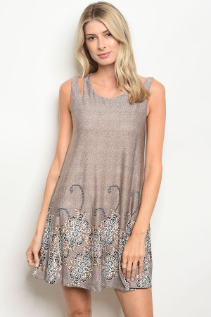 S13-6-2-D2439 TAUPE DRESS 2-2-2