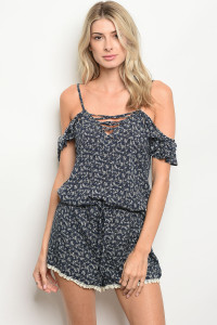 S17-7-3-R3066 NAVY OFF WHITE ROMPER 2-2-2