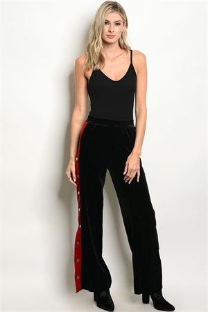 S18-4-2-P1971 BLACK RED PANTS 2-2-2