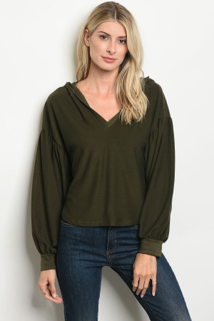 S18-19-1-T3052 OLIVE TOP 2-2-2