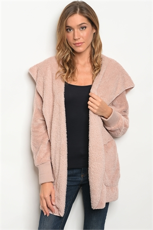 114-WALL-S0530 MAUVE SHERPA JACKET / 6PCS
