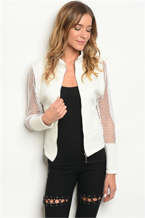 S17-11-2-J5418 OFF WHITE JACKET 3-2-1