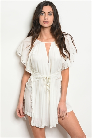 S19-5-4-R2038 OFF WHITE ROMPER 2-2-2