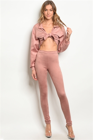 C75-A-6-SET30364 MAUVE TOP & PANTS SET 3-2-1
