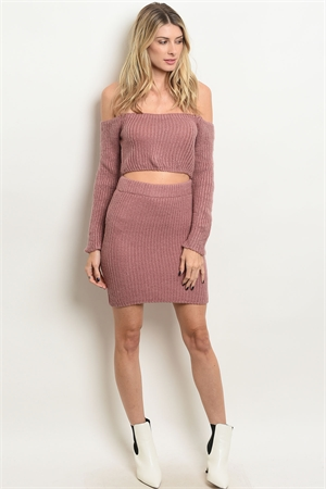 S10-11-4-SET23040 MAUVE SWEATER & SKIRT SET 3-2-1