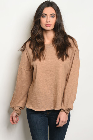 S3-6-3-T24094 TAUPE TOP 2-2-2