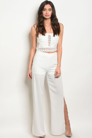 SA3-000-5-SET57065 OFF WHITE TOP & PANTS SET 2-2-2