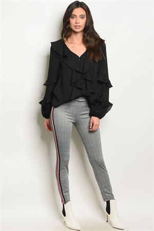 C92-A-6-P14586 GRAY RED CHECKERED PANTS 2-2-2