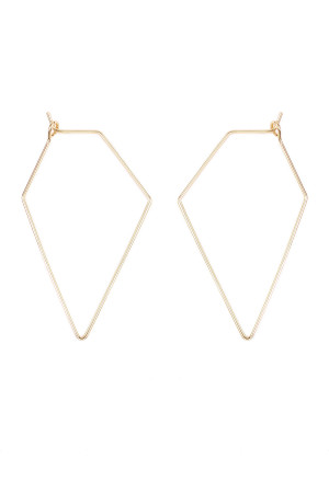 S6-6-2-AHDE1852G GOLD POLYGON BRASS EARRING/6PAIRS