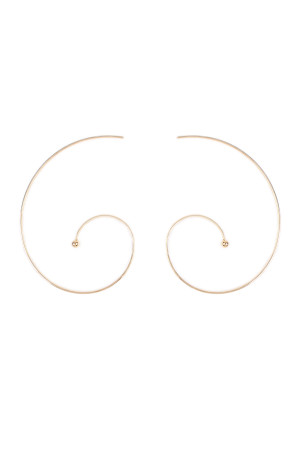 S6-4-3-AHDE1855G GOLD SPIRAL BRASS EARRING/6PAIRS