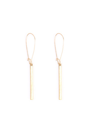 S7-6-3-AHDE1867MG MATTE GOLD BAR DROP EARRING/6PCS