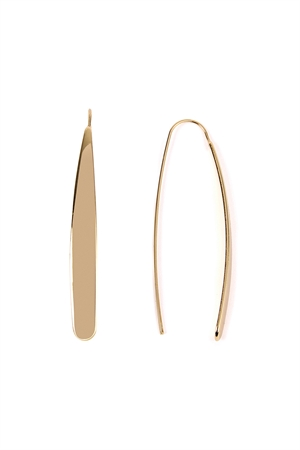 S6-4-3-AHDE2124G GOLD THREADER EARRINGS/6PAIRS