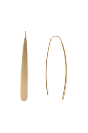 S7-6-3-AHDE2124MG MATTE GOLD THREADER EARRINGS/6PAIRS