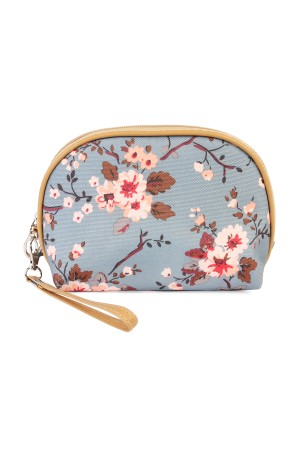 S5-6-2-AHDG1836GY-GREY FLORAL COSMETIC  BAG/10PCS