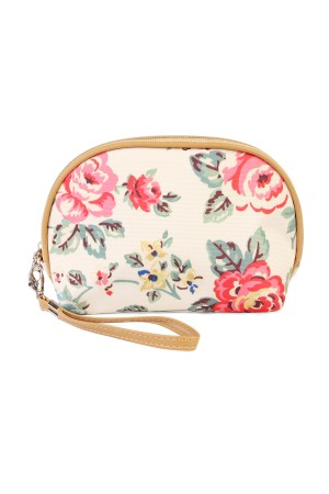 S5-6-2-AHDG1836WT-COSMETIC FLORAL  BAG-WHITE/10PCS