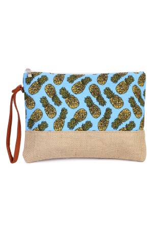 S6-4-2-AHDG1896BL BLUE PINEAPPLE PATTERN COSMETIC BAG/6PCS