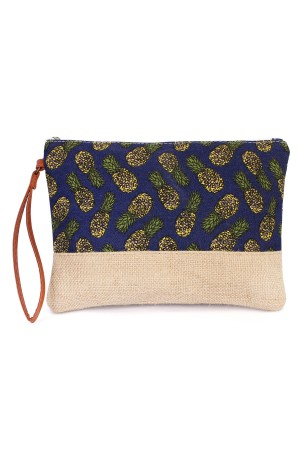 S6-5-4-AHDG1896NV NAVYPINEAPPLE PATTERN COSMETIC BAG/6PCS