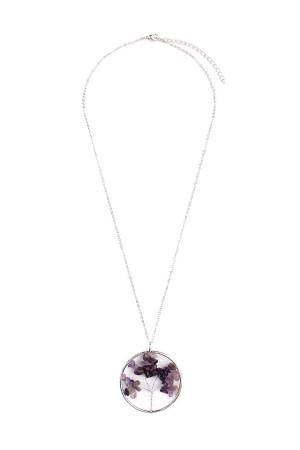 S4-6-2-AHDN1824PU PURPLE TREE OF LIFE LONGLINE NECKLACE/6PCS