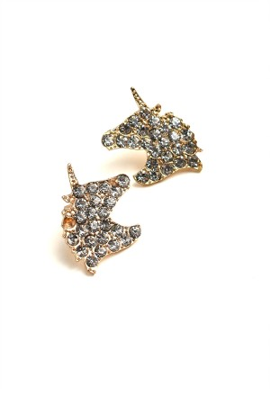 204-1-1-RER0573R6 UNICORN SHAPE MULTI STONE EARRINGS/12PCS
