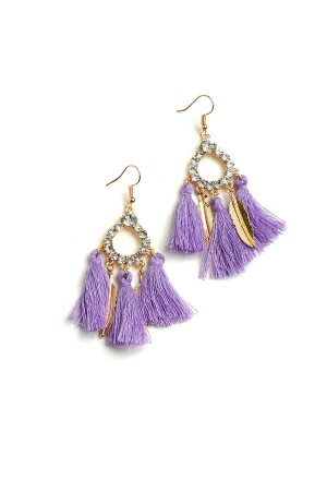 207-1-4-IER2646 TRIPLE TASSEL STONE DROP EARRINGS/12PCS