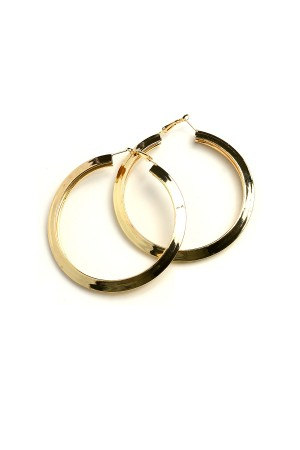 206-2-2-AE2318G GOLD HOOP EARRINGS/12PCS
