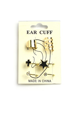 206-2-3-AE2741 MULTI SHAPE CUFF EARRINGS/12PCS