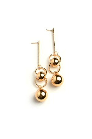 207-2-4-AE2988 DOUBLE PEARL DROP EARRINGS/12PCS