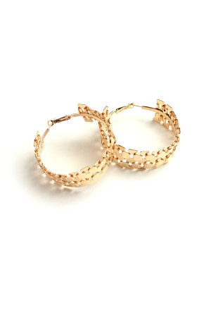 207-1-1-AE2461 HOOP DESIGN EARRINGS/12PCS