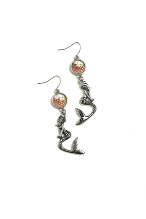 205-1-3-ER5985 MERMAID SHAPE DROP EARRINGS/12PCS