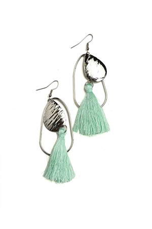 204-2-4-ER5942 TASSEL TEARDROP SHAPE EARRINGS/12PCS