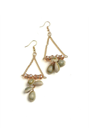 201-2-5-AE2970 SHELL SHAPE DROP EARRINGS/12PCS
