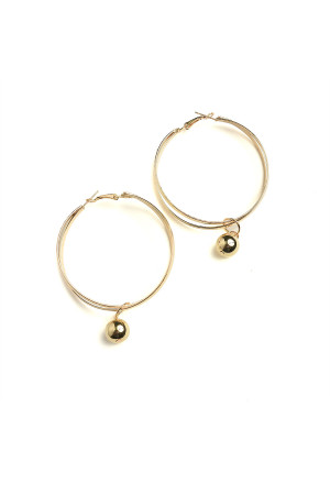 201-3-2-AE3233 PEARL HOOP EARRINGS/12PCS