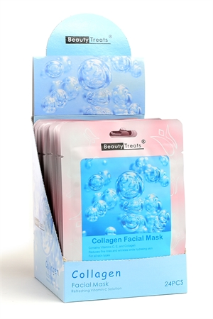211-1-3-203CO COLLAGEN FACIAL MASKS/24PCS