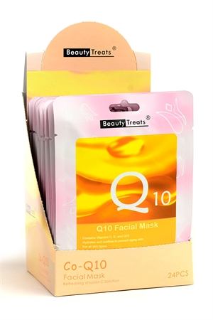 211-1-3-203CO-Q10 COLLAGEN FACIAL MASKS/24PCS