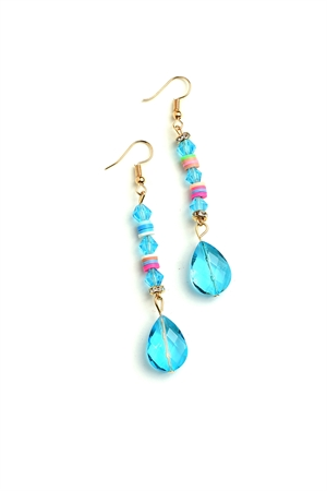 205-1-3-ER6249 STONE DROP EARRINGS/12PCS