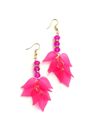 204-1-3-ER6248 FLORAL SHAPE DROP EARRINGS/12PCS