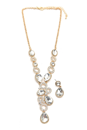 S4-5-2-AMYS2371/3620-GD GOLD NECKLACE & EARRING SET/6SETS