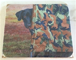 Black Labrador Retriever Peeking Mousepad