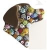 Lucky Lab Pin Chocolate Millefiori Glass Flowers