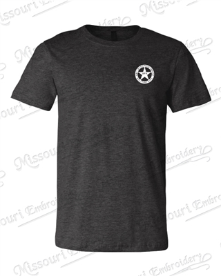 KOPS DARK GREY HEATHER T-SHIRT STAR LEFT CHEST LOGO