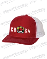 CRSA RED/WHITE TRUCKER CAP