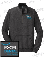 NEW EXCEL DENTAL 1/4 ZIP DM FLEECE