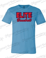 Elite Baseball T-shirt - Ocean Blue